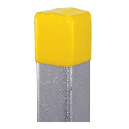 """Safety End Cap 13/16""""X1 5/8"""" Yellow PK10 by USA Vast Electrical Strut Channel Accessories"""