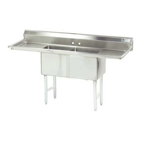 Fabricated NSF Sink,16g,304,Ss,72x30 -  ADVANCE TABCO, FC-2-1824-18RL-X