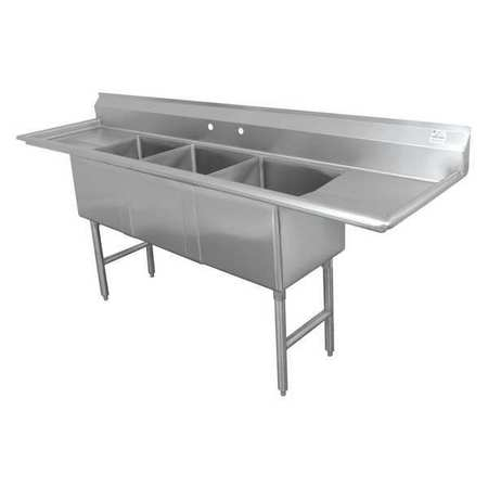 Fabricated NSF Sink,16g,304,Ss,100x30 -  ADVANCE TABCO, FC-3-2030-24RL-X