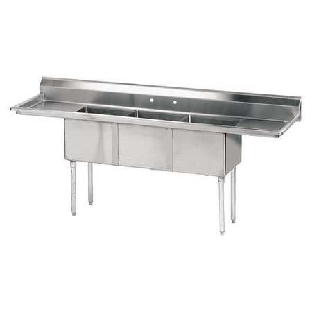 Fabricated NSF Sink,18g,304,Ss -  ADVANCE TABCO, FE-3-1014-15RL-X