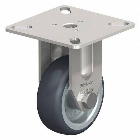 """Blickle Rgd Plate Castr Therm Rubber 2"""" 110 lb."""