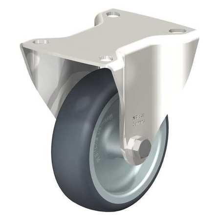 "Blickle Rigid Plate Cstr TPR Rubber 4"" 240 lb."