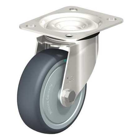 "Blickle Swivel Plate Cstr TPR Rubber 4"" 240 lb. Type LEX-TPA 102KD-FK"