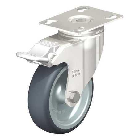 "Blickle Swivel Plate Caster TPR 3-1/8"" Brake Type LKPXA-TPA 80G-12-FI"