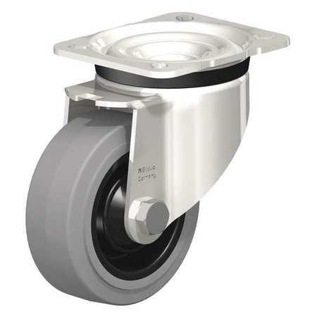"Blickle Swivel Plate Caster Solid Rbr 4"" 330 lb."