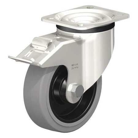 "Blickle Swivel Plate Caster Solid Rubbr 5"" Brake"