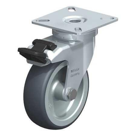 "Blickle Swvl Plte Cstr TPR Rubbr 3-1/8"" Brake Type LPA-TPA 75G-FI"