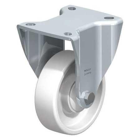 "Blickle Rigid Plate Cstr White Nylon 4"" 617 lb. Type BH-PO 100K-1"