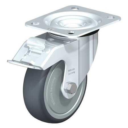 "Blickle Swivel Plate Cstr TPR Rubber 4"" Brake Type LE-TPA 102K-FI-FK"