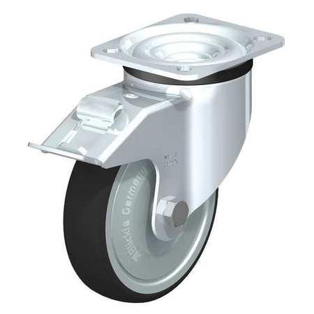 "Blickle Swivel Plate Caster PU 5"" Brake Type LK-PATH 125K-14-FI-FK"