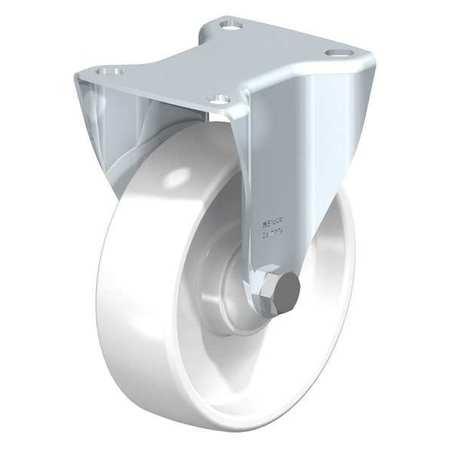 """Blickle Rigid Plte Castr White Nyln 5"""" 660 lb."""