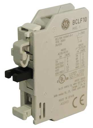 Aux Contact Block 1NO Standard Front Mtg Model BCLF10 by USA GE Electrical Motor Auxiliary Contacts