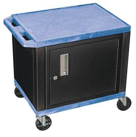 Value Brand Audio-Visual Cart 150 lb. Blue 18 In. L