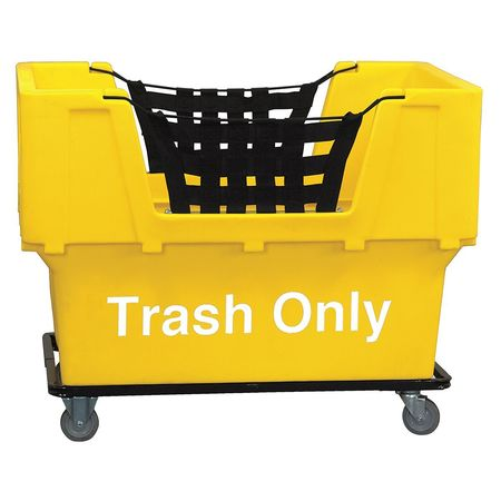 Value Brand Basket Truck Trash Only Webbed Yellow