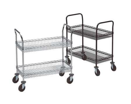 Metro Basket Cart 2Shelf 39x36x18 Chrome