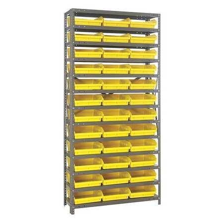 Bin Shelving,solid,36x18,36 Bins,yellow