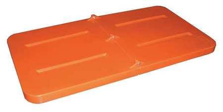 Value Brand Tilt Truck Lid Orange Fits 1/3 cu. yd.