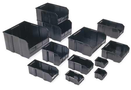 Bin Divider,17-1/8l X 14-3/4w,black,pk6