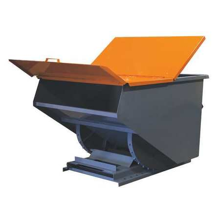 Value Brand Hopper Lid Orange Fits 3 cu. yd.