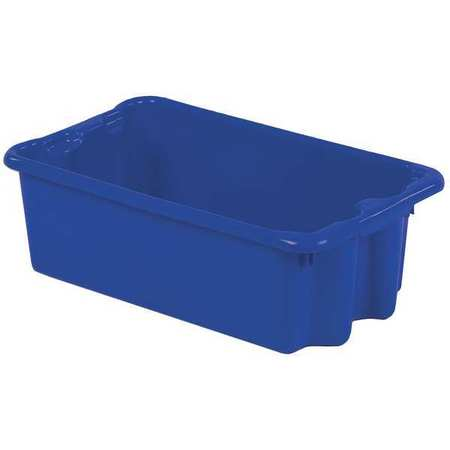 Stack And Nest Bin,24 In L,blue