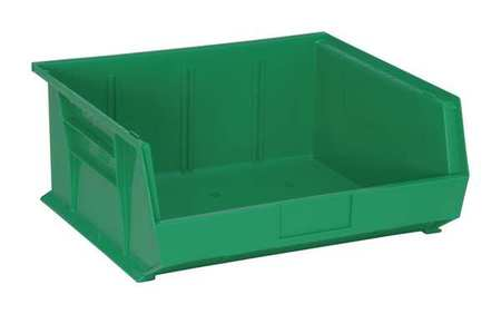 Hang And Stack Bin,14-3/4 In L,green