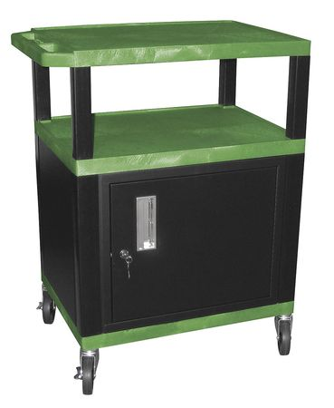 Value Brand Audio-Visual Cart 200 lb. Green 18 In. L