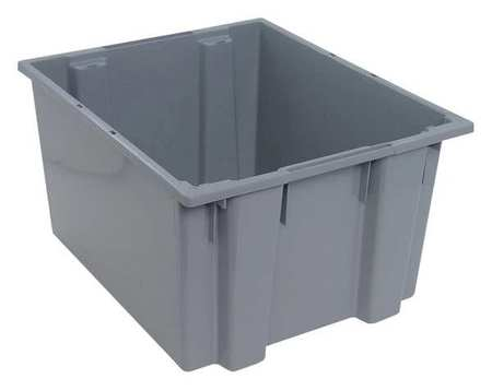 Nest And Stack Container,23-1/2 In,gray
