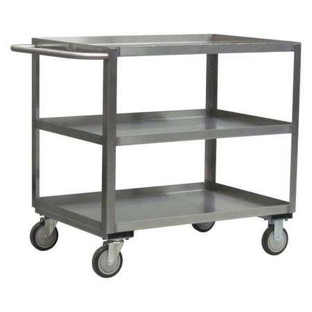 Value Brand Utility Cart SS 54 Lx25 W 1200 lb. Cap. Type XA248-N8