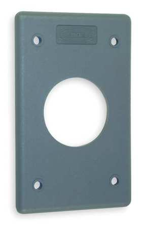 Single Receptacle Plate 1 Gang Gray Model HBLP720FS by USA Hubbell Kellems Electrical Wall Plates