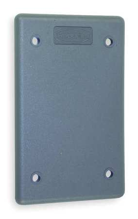 Blank Wall Plate 1 Gang Gray by USA Hubbell Kellems Electrical Wall Plates