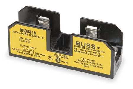 Fuse Block Industrial 30A 1 Pole Model BG3031S by USA Eaton Bussmann Circuit Fuse Blocks & Holders