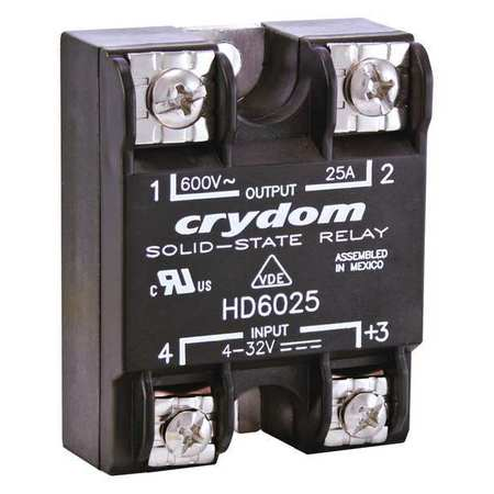 Solid State Relay 4 to 32VDC 12A by USA Crydom Electrical Solid State Relays