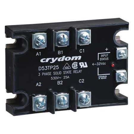 Solid State Relay 4 to 32VDC 50A Model D53TP50D 10 by USA Crydom Electrical Solid State Relays