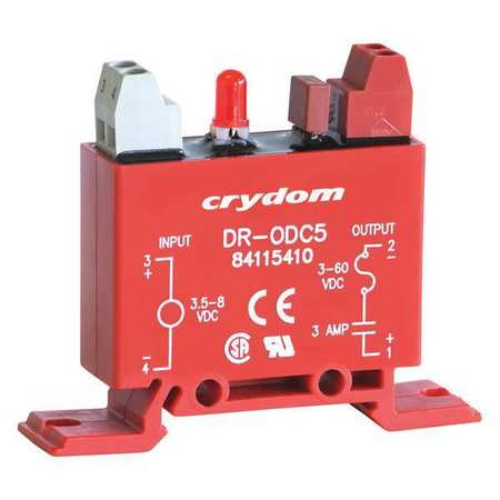 Input/Output Relay 3A DIN Rail Red by USA Crydom Electrical Relay Accessories