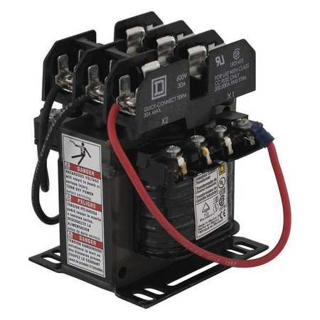 Control Transformer 100VA 5.82 In. H by USA Square D Electrical Control Transformers