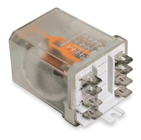 Enclosed Power Relay 8 Pin 12VDC DPDT by USA Dayton Electrical Specialty Relays