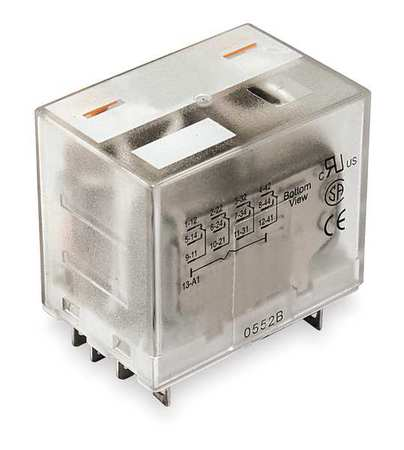 Plug In Relay 14 Pins Square 120VAC Model 1EHW6 by USA Dayton Electrical Specialty Relays