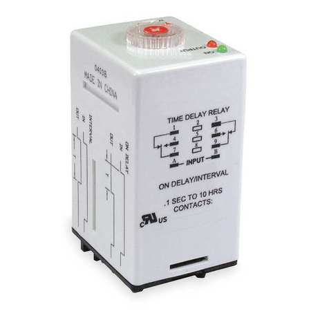 Time Delay Relay 12VAC/DC 12A DPDT by USA Dayton Electrical Time Delay Relays