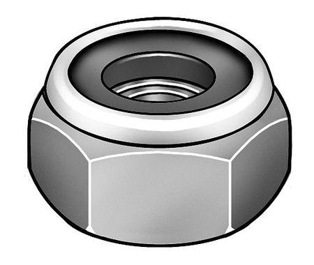 "7//16/""-14 Grade 2 Zinc Plated Finish Steel Nylon Insert Lock Nut 25 pk."