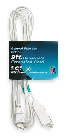 9 ft. 16/2 3 Outlet Extension Cord SPT 2 by USA Power First Extension Cords