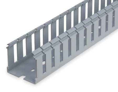 Wire Duct Wide Slot Gray Width 3 In Model TY3X3WPG6 by USA Ty Rap Wiring Ducts