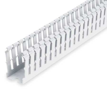 Wire Duct Narrow Slot White Width 1 In by USA Ty Rap Wiring Ducts
