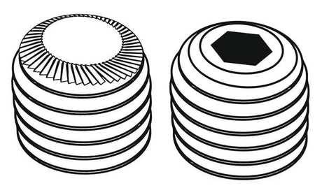 FABORY Alloy Steel Socket Set Screw,Flat,10-24x3//8,PK100 U07810.019.0037