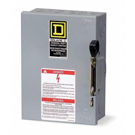 100 Amp 240vac Single Throw Safety Switch 3p