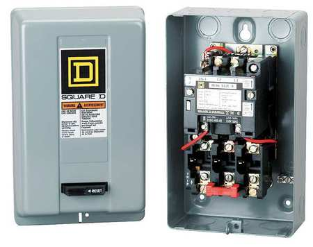 Magnetic Motor Starter NEMA 480V 3P 9A by USA Square D Electrical Motor Magnetic Starters