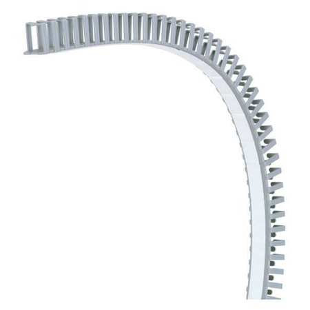 Wire Duct Hinging Gray L 1.64 Ft PK5 by USA Panduit Wiring Ducts