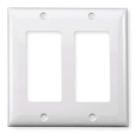 Rocker Wall Plate 2 Gang White by USA Hubbell Kellems Electrical Wall Plates