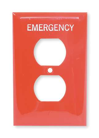 Duplex Wall Plate 1 Gang Red Model NPJ8RMEV by USA Hubbell Kellems Electrical Wall Plates