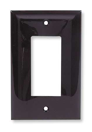 Rocker Wall Plate 1 Gang Brown Model NP26 by USA Hubbell Kellems Electrical Wall Plates
