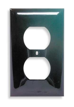 Duplex Wall Plate 1 Gang Brown Model NP8 by USA Hubbell Kellems Electrical Wall Plates